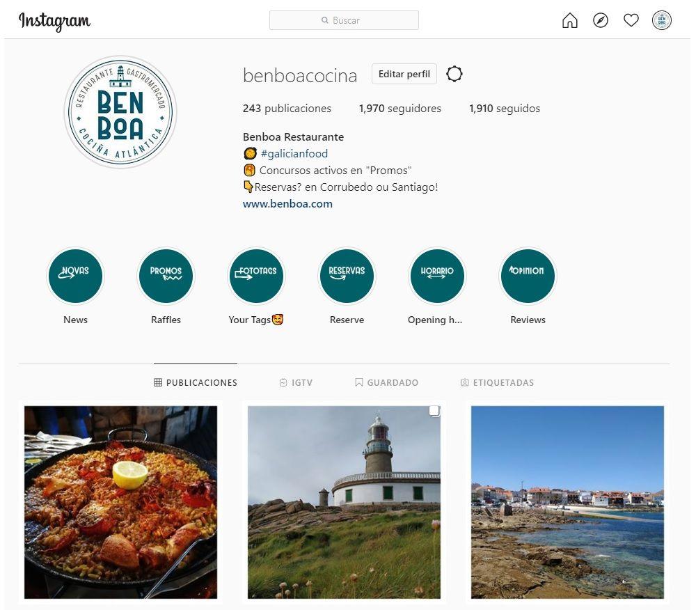Resultados do sorteo #benboaenamora en instagram